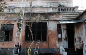 В Черновцах сгорел офис ВО «Свобода»