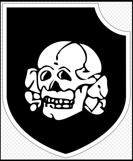 Эмблема дивизии дивизия СС «Тотенкопф» (Мертвая голова)
