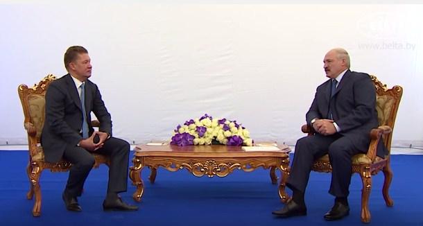 Лукашенко предлагает Миллеру пустить газопровод через Белоруссию, вместо Украины